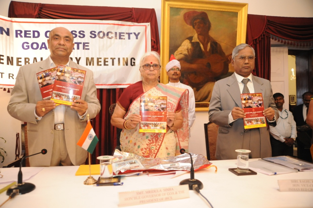 Release of Annual report at the hands of Hon'ble Governor of Goa, Smt. Mridula Sinha
